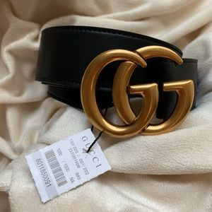 ~'New Gucci Belt Âuthèntić Double G Marmot GG